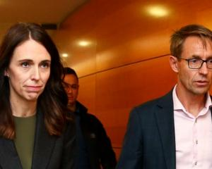 Jacinda Ardern and Ashley Bloomfield. Photo: Getty Images
