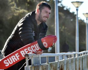 Watching the waves is Otago Surf Life Saving search and rescue co-ordinator Max Corboy, who has...