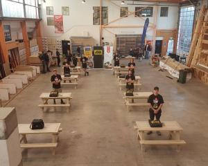 Competitors in the Otago regional heat of the NZCB Apprentice Challenge stand with their...