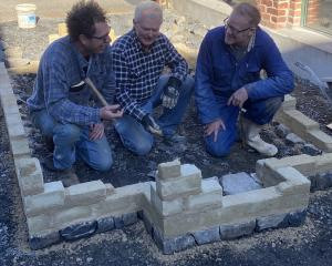 Artists involved in The Lime Burners project (from left) Rupert Morris, Stuart Griffiths and Tim...