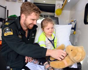 St John ambulance officer Luke Barker, who is also a University of Otago third-year medical...