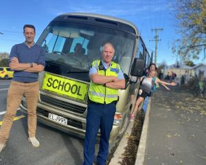 Strath Taieri School principal James McArthur (left) and Middlemarch community police constable...