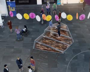 A concept image shows how the installation may look in the mall. IMAGE: SUPPLIED