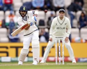 Skipper Virat Kohli led India's revival, steering his team to 146-3 against New Zealand before...