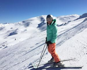 The writer on Cardrona's southern boundary. Willow's Basin is in the background. Photo: Chris...