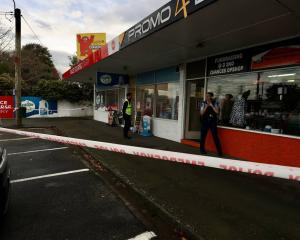 Police responded to reports of a robbery at a dairy in Sockburn. Photo: George Heard