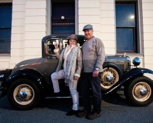 Kathy and Hamish Mackenzie, of Jacks Point, with their 1930 Ford Model A coupe ahead of the...