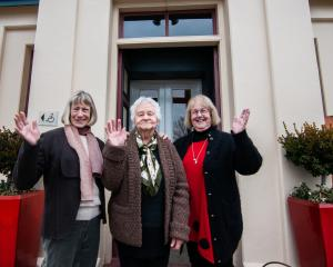 Stepping down as organisers of the Alexandra Blossom Festival Senior Queen competition (from left...