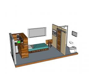An artist's impression of a new cabin to be built this year at the Otago Corrections Facility,...