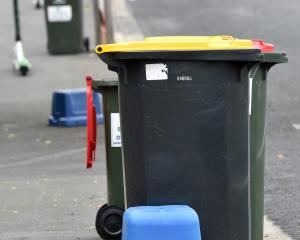 The Dunedin City Council will consult on proposed changes to kerbside collection in March. PHOTO:...