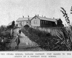 Owaka School, Catlins district, just raised to the status of district high school.  - Otago ...