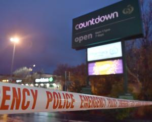 Countdown Dunedin Central was closed for several days following the stabbing incident. Photo:...