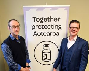 SDHB vaccine rollout incident controller Hamish Brown (left) and vaccine programme leader Karl...