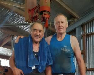 Matt Day (left) and Kelvin Webster have been shearing together for more than 20 years. PHOTO:...
