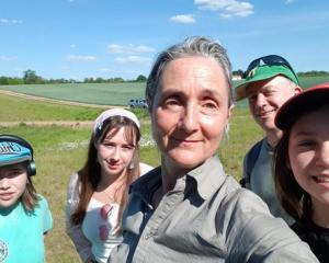 Dr Anne Solomon and her husband, Aeron Davis, with their daughters, Hannah, Miriam and Kezia....