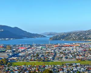 Dunedin and Otago harbour panorama from Kew,  1/5/2021