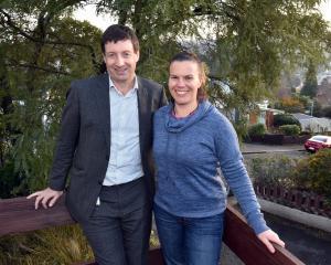 Dunedin lawyer Gerard DeCourcy and Recovered Living NZ director Kristie Amadio in Dunedin. PHOTO:...