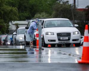 Covid-19 testing in Christchurch in November. Photo: RNZ / Nate McKinnon