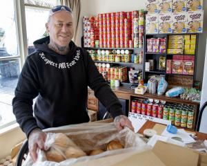 Corrin Webster started the Hoon Hay Food Bank out of his own home.  Photo: Geoff Sloan