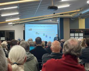 A meeting over the proposed Lincoln South development. Photo: Supplied