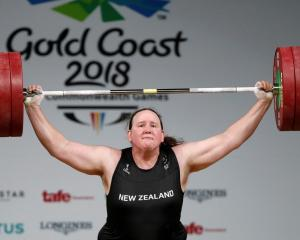 Laurel Hubbard competing at the 2018 Commonwealth Games. Photo: Reuters
