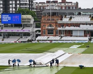 The covers were never removed on day three. Photo: Getty Images