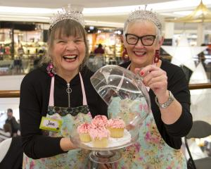 Old friends and business partners Jan McLean (left) and Marion Harper, aka the ''Tiara Tarts'',...