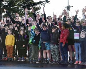 Pupils from Lee Stream School, Strath Taieri School and Macraes Moonlight School at a Matariki...