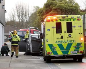 Emergency services at the scene of a fatal incident at the Christchurch shopping centre. Photo:...