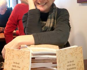 Wanaka poet Liz Breslin has launched her second book of poetry, in bed with the feminists. PHOTO:...