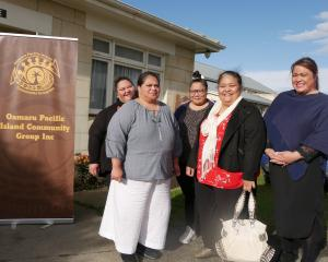 Oamaru Pacific Island Community Group team members (from left) Mele Finau Huakau, Mafa Alaloto,...