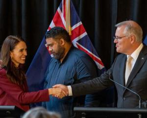 Prime Minister Jacinda Ardern and Australian leader Scott Morrison. Photo: Getty Images