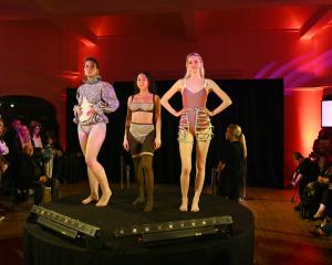 Showing off the designs of third-year Otago Polytechnic fashion student Lotte Bailey at the...
