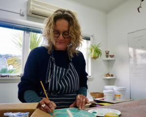 Polly Hutchinson has taken up pottery classes in Sumner. Photo: Supplied