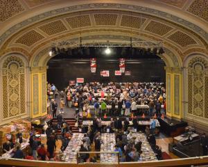 Bargain hunters swarm the Regent Theatre at the 2019 24 Hour Book Sale. PHOTO: GERARD O'BRIEN