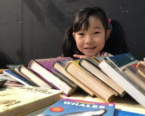 Megan Sommerfeldt was among the thousands who attended the Invercargill Rotary Club's book sale....