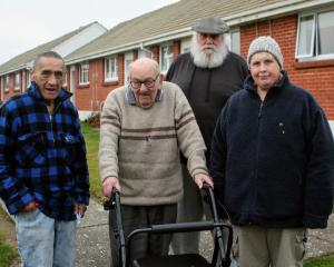 Invercargill City Council housing unit tenants' association members (from left) Nehua Henare,...