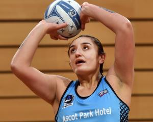 Tiana Metuarau during the Southern Steel Netball training at the Edgar Centre on Thursday. PHOTO:...