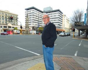 Lindsay Facer, of Roslyn, surveys the intersection of Princes and Rattray Sts where he was...