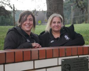 Roslyn Wakari AFC's junior co-ordinators Jo Stewart (left) and Belinda Hunsche. PHOTO: JESSICA...