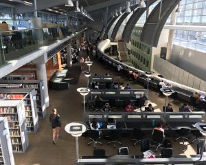 University of Otago students study in the main library last week.PHOTO: JESSICA WILSON