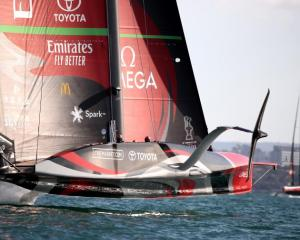 Team New Zealand in America's Cup action against Luna Rossa earlier this year. Photo: Getty