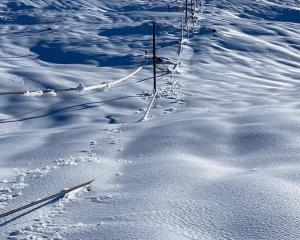 Fox Peak ski field was snowed under last week, with access routes washed out. Photo: Supplied