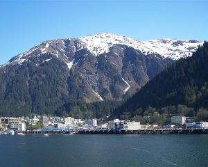 View of downtown Juneau, Alaska, as seen from a boat on the Gastineau Channel. Photo by Wikimedia...