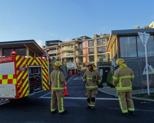A Wanaka Fire and Emergency volunteer crew were called to the multi-million dollar apartment...