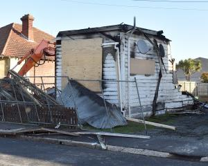 The Wesley St  flat where a double murder took place was torn down after a second arson several...