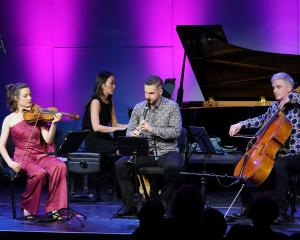 Jonathan Cohen performs with  NZTrio during the opening of the Wakatipu Music Festival in...