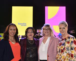 Ready to present their panel on women in sport are Women You Can Bank On speakers (from left) Dr...