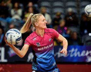 Southern Steel captain Shannon Saunders warms up ahead of her team's round eight ANZ Premiership...
