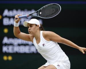 Ash Barty in action against Angelique Kerber. Photo: Reuters
